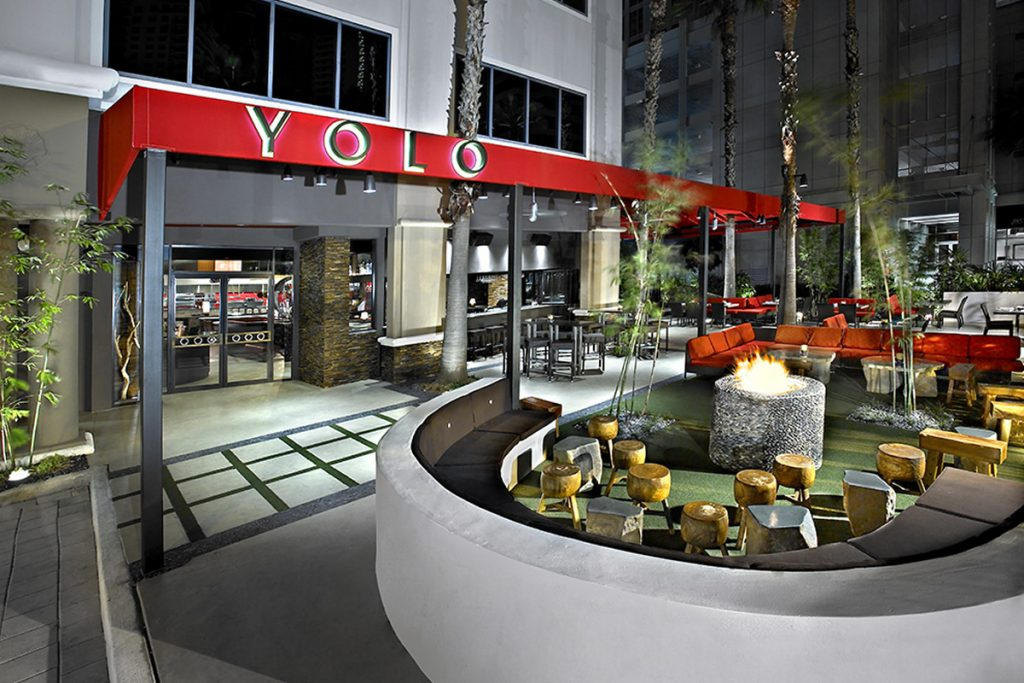 YOLO and O Lounge Exterior